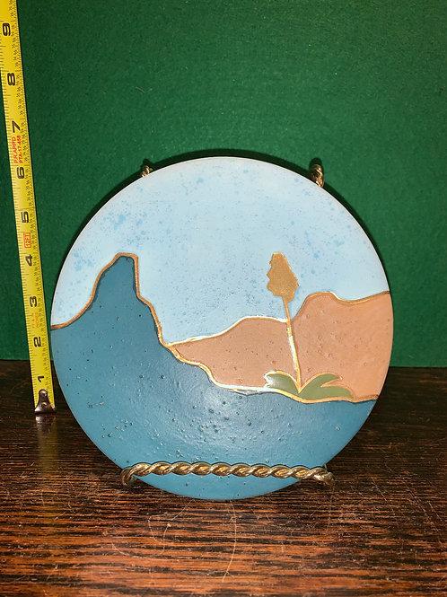 Round Gold Tile