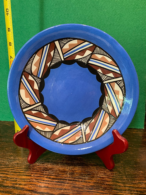 Traditional Glazed Curved Plate