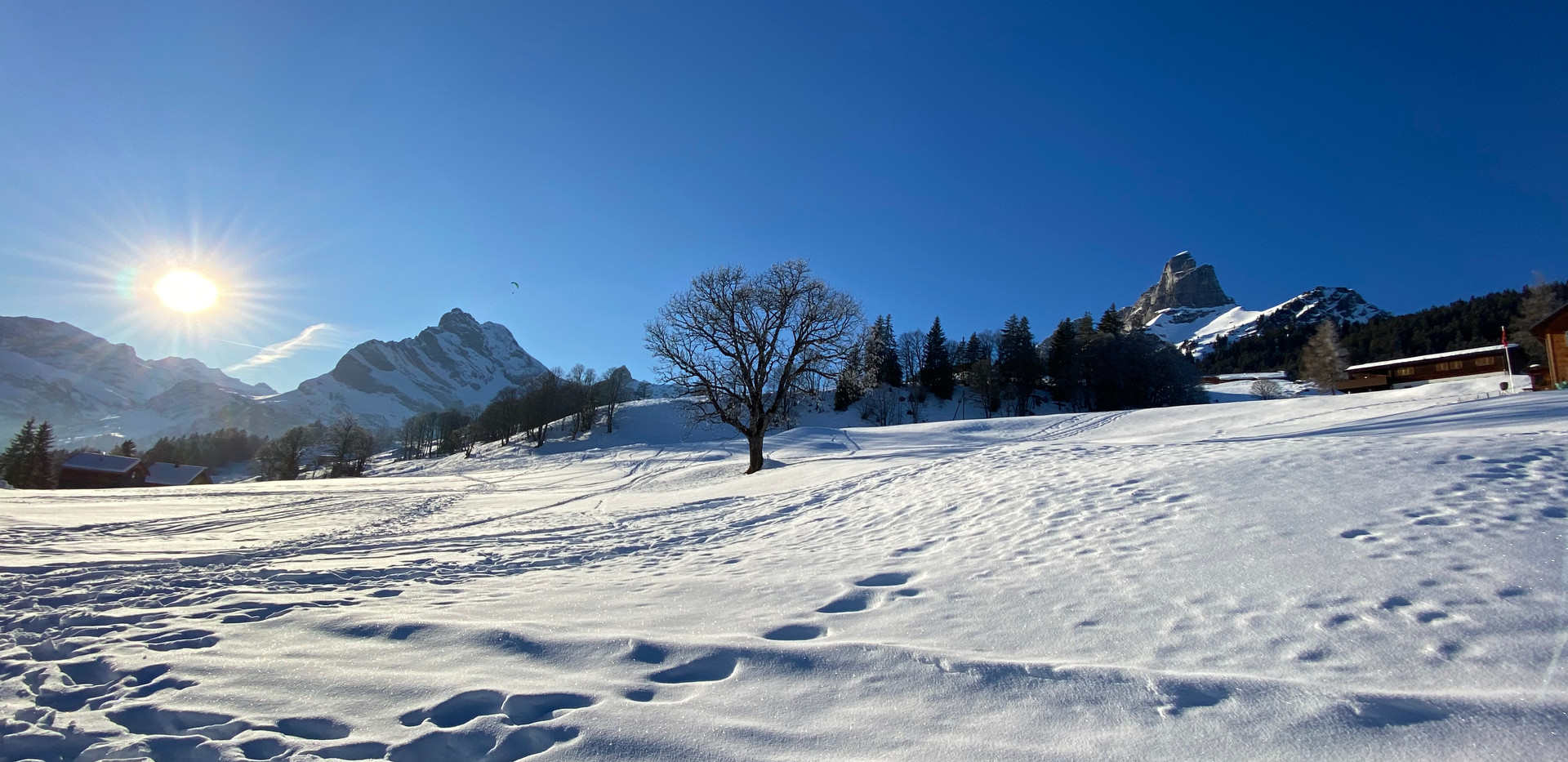Winterimpression von Braunwald