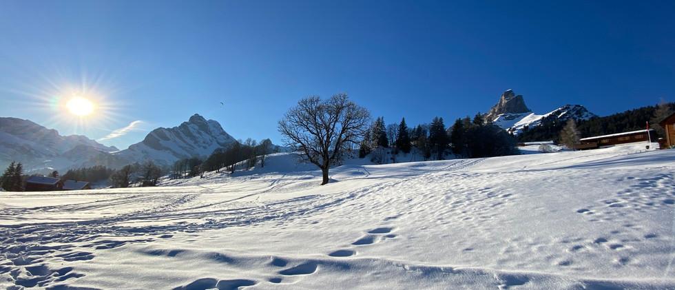Winterimpression von Braunwald