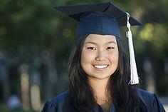 Beautiful young asian woman in graduatio