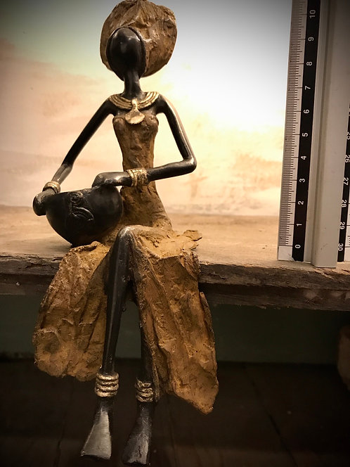 """Moyen bronze assis de Ouagadougou """"MA05"""""""