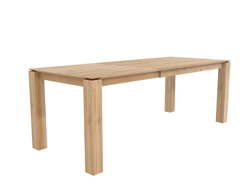 Table en chêne Ethnicraft Slice extendable