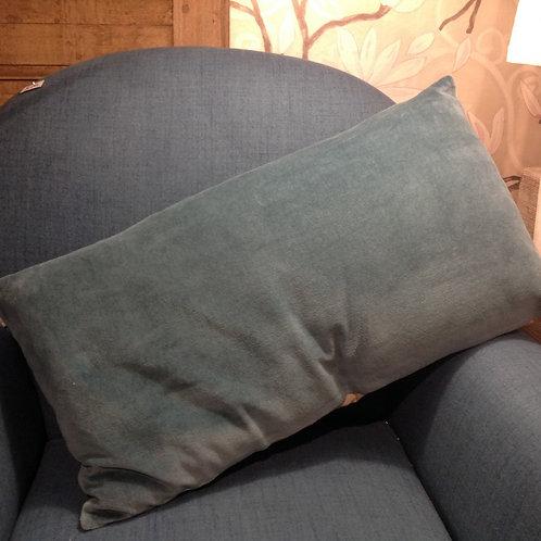 Coussin Lison vert de gris 35x65
