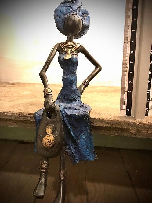 """Moyen bronze assis de Ouagadougou """"MA07"""""""