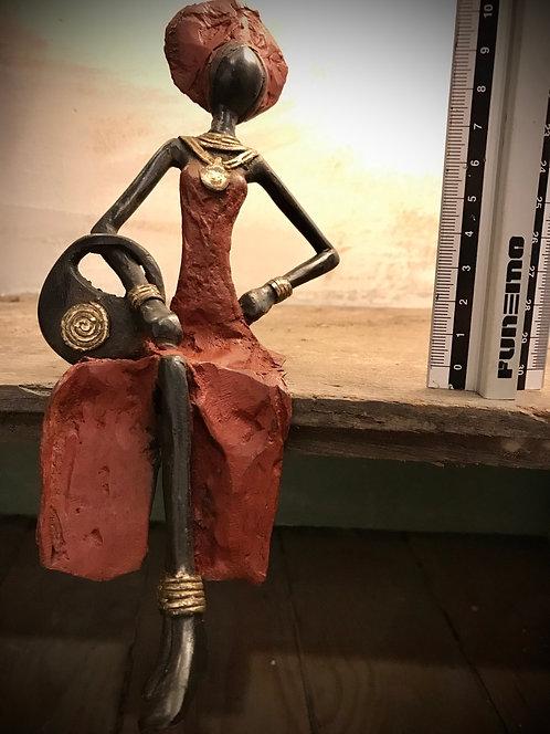 """Moyen bronze assis de Ouagadougou """"MA04"""""""