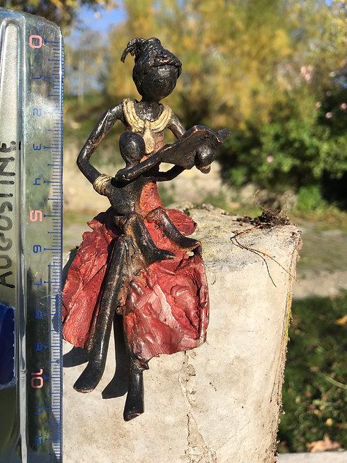 "Petit bronze assis de Ouagadougou ""SA1"""