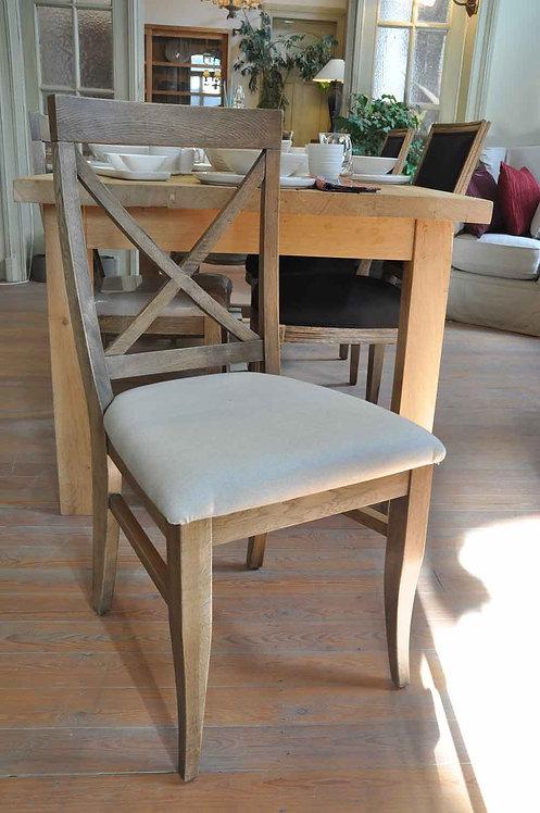 Chaise en chêne et lin
