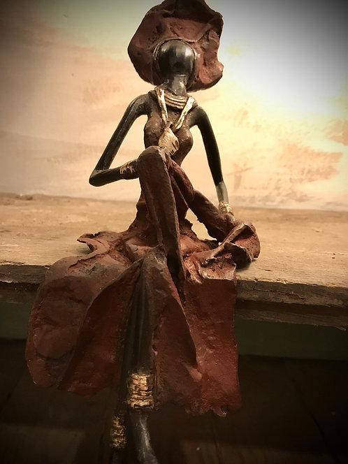 """Moyen bronze assis de Ouagadougou """"MA06"""""""