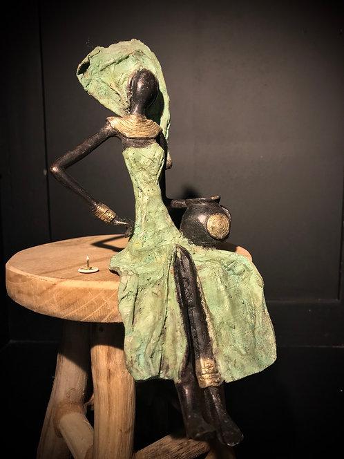 """Moyen bronze assis de Ouagadougou """"MA03"""""""