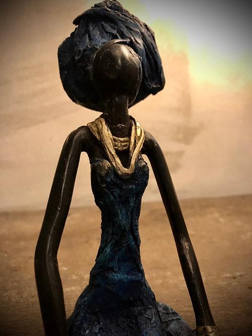 """Moyen bronze assis de Ouagadougou """"MA01"""""""