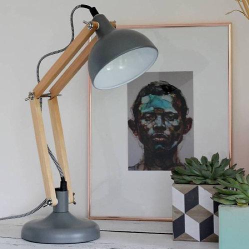 Lampe Mini Dexter métal gris mat