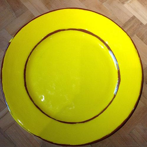 Assiette Dessert Aubagne jaune