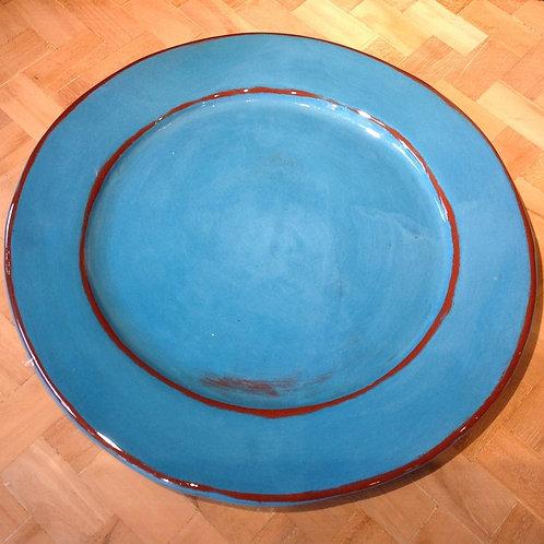 Assiette plate Aubagne Turquoise