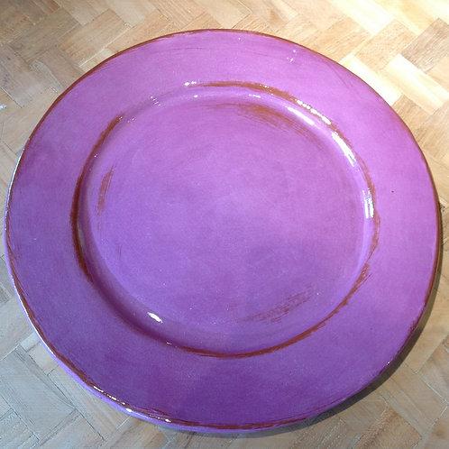 Assiette plate Aubagne Violet