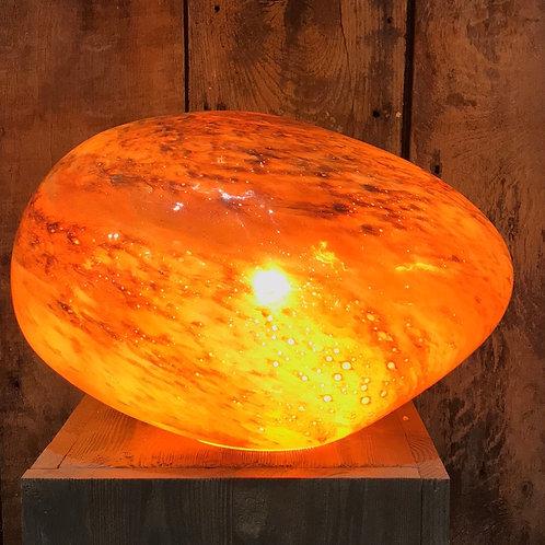 Galet XL en verre Orange