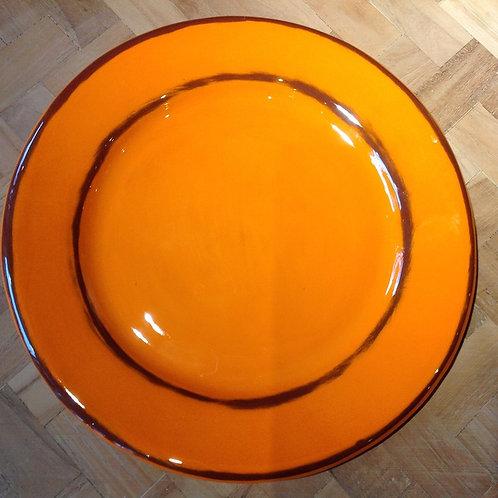 Assiette Dessert Aubagne orange