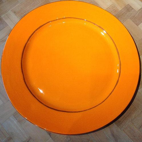 Assiette plate Aubagne Orange
