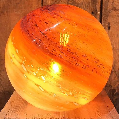 Globe en verre orange