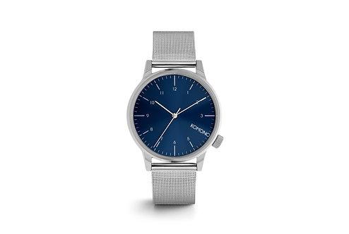Montre Komono Winston Royale silver-Blue