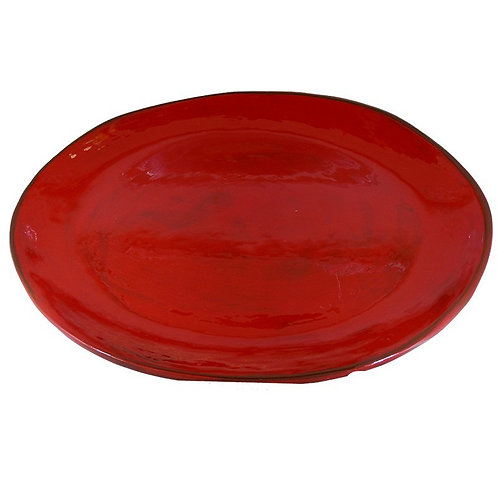 Plat oval rouge