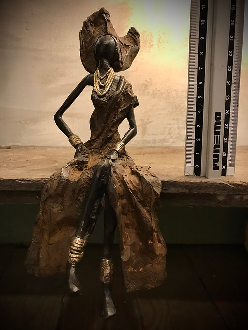 """Moyen bronze assis de Ouagadougou """"MA02"""""""