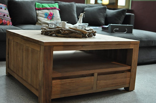 Table basse en teck Rustic