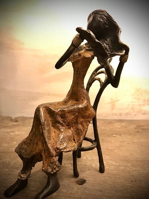 """Moyen bronze assis de Ouagadougou """"MA09"""""""