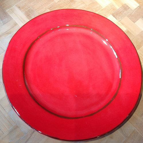 Assiette plate Aubagne Rouge