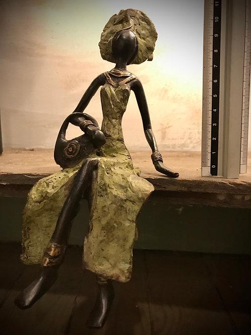 """Moyen bronze assis de Ouagadougou """"MA08"""""""