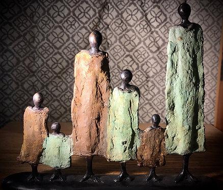 """Famille bronze de Ouagadougou """"FA01»"""