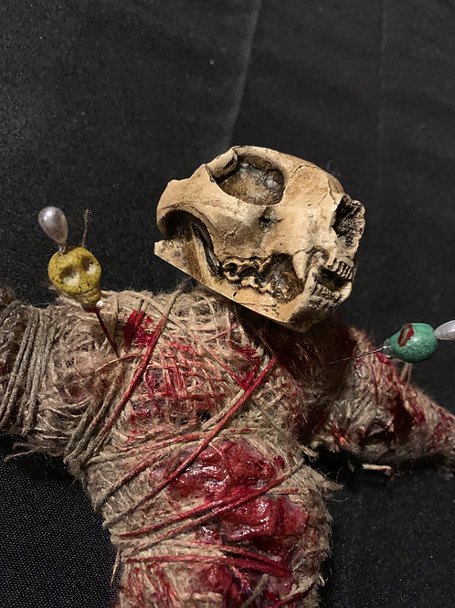 Cat Skull Voodoo Doll (With Blood)