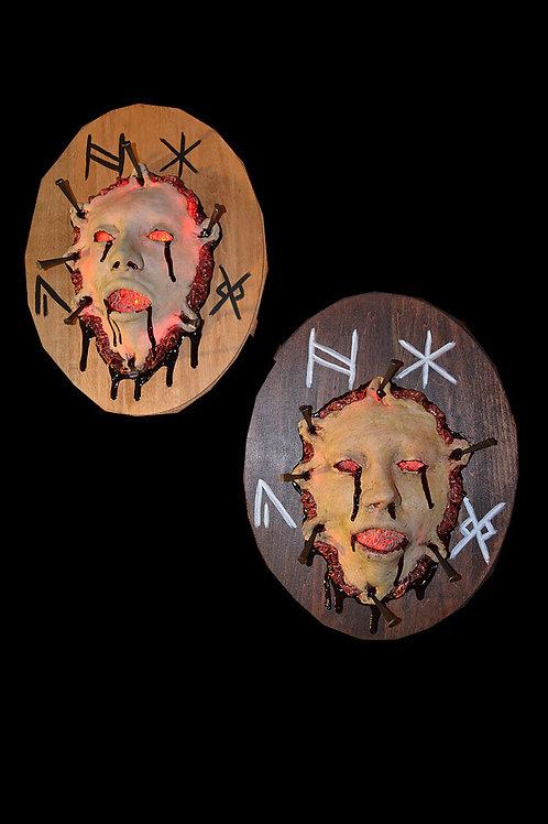 Lighted Voodoo Hex Plaque