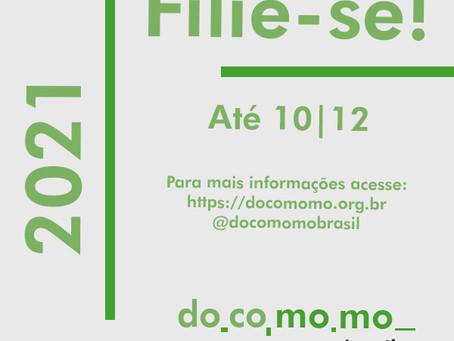 Campanha para a filiação do DOCOMOMO BRASIL 2021