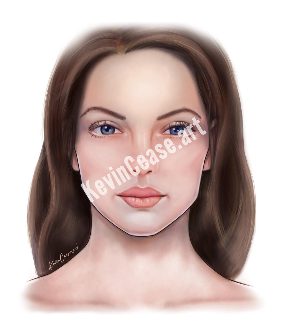 Botox Girl illustration (no muscles)