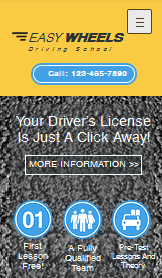 Automotive & Cars website templates – Driving School