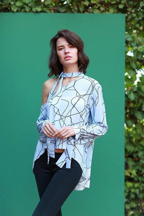 omuz dekolte bluz