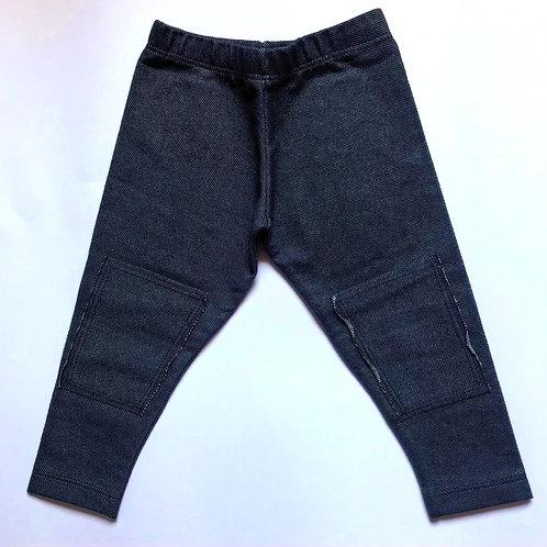 Legging Jeans com detalhe no joelho