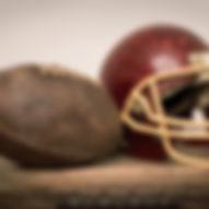 Vintage Helmet and American Football Bal
