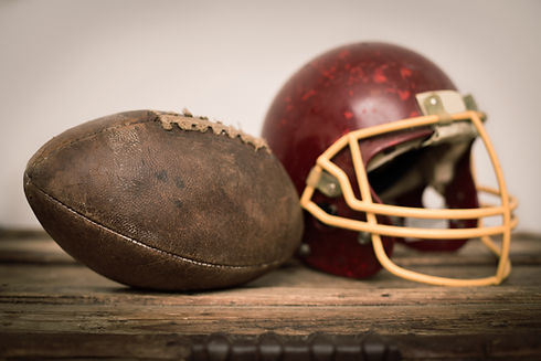 Vintage Helmet and American Football Bal
