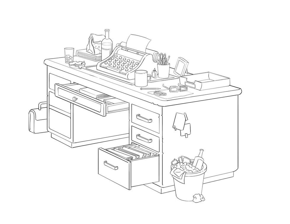 Detective Desk