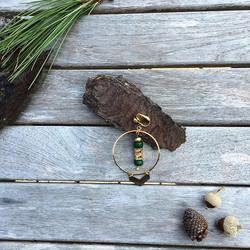 Modèle ADONIA ✨ Pièce unique - Boucles d'oreilles réalisées à partir d'un collier vintage #instajewe