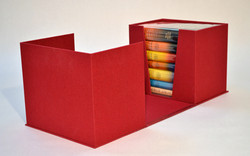 Leather Flat Spine Clamshell Box