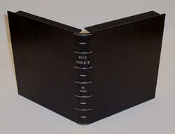Leather Rounded Spine Clamshell Case