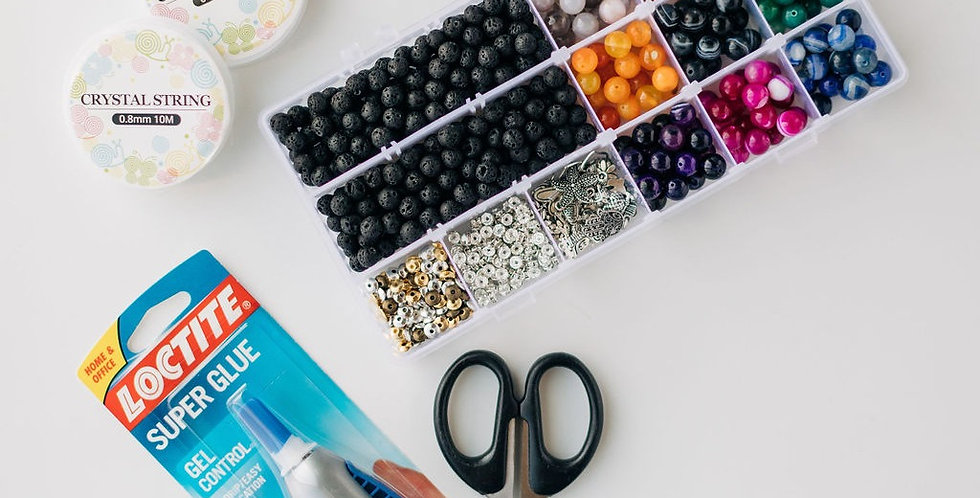 20 Pack - Agate Mix DIY Bracelet