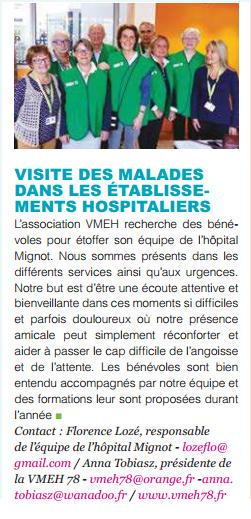 """Article paru dans l'édition n°229 du journal """"Evènements"""" du Chesnay"""
