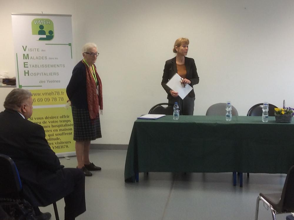 La Présidente accueil Mme Catherine Morvan, Directrice de la clinique de Poissy