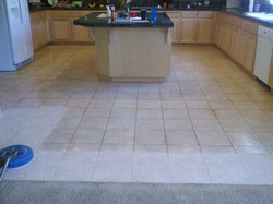 Before: kitchen tile floor