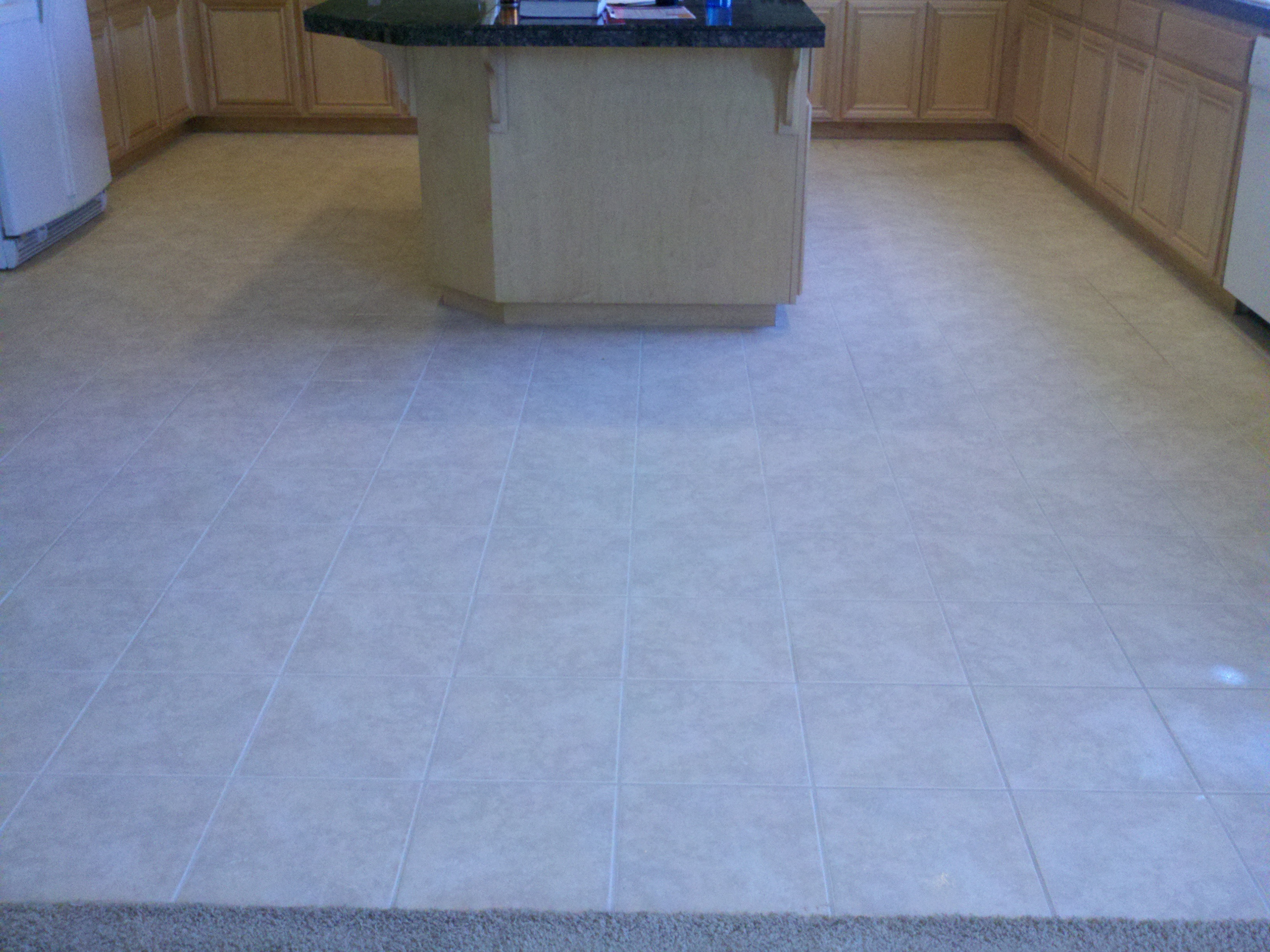 After: kitchen tile floor