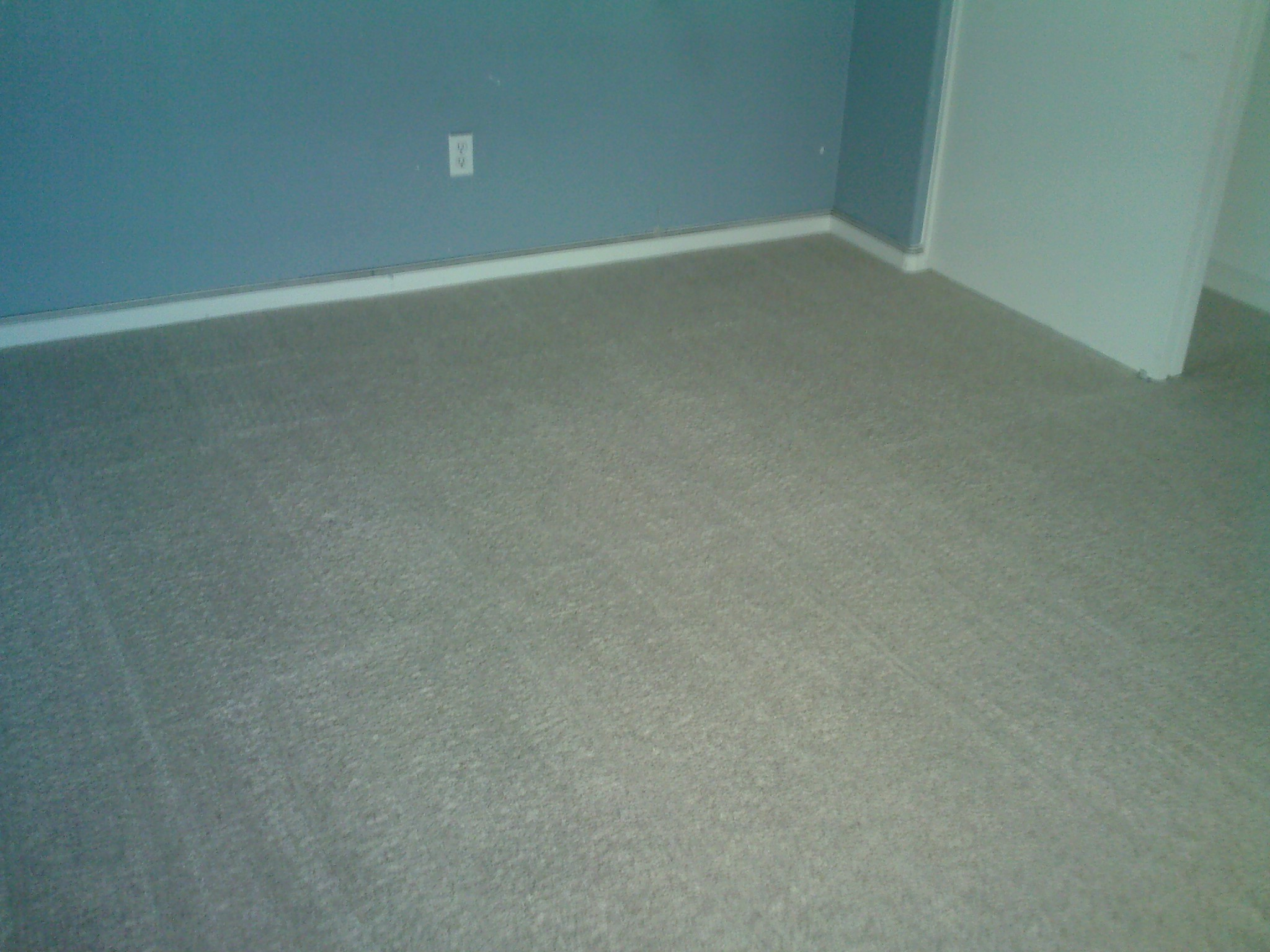 After: over-spray paint in carpet